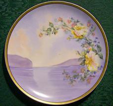 "Antique Haviland Limoges ""Berton"" Plate Lake & Mountain Scene Signed 8.75""D - $75.00"