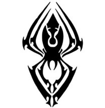 Spider Wall Decal Sticker - Tribal Animal Tattoo Decoration Mural - 54 i... - €39,53 EUR