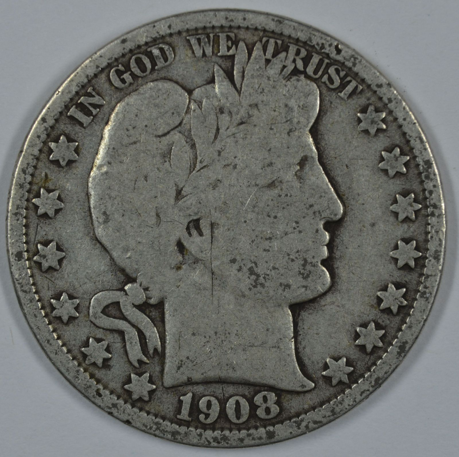 Primary image for 1908 O Barber circulated silver half
