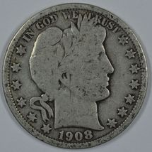 1908 O Barber circulated silver half - $20.00