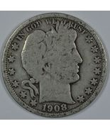 1908 O Barber circulated silver half - $20.00