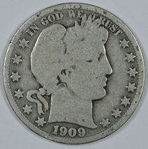 1909 O Barber circulated silver half - $19.00