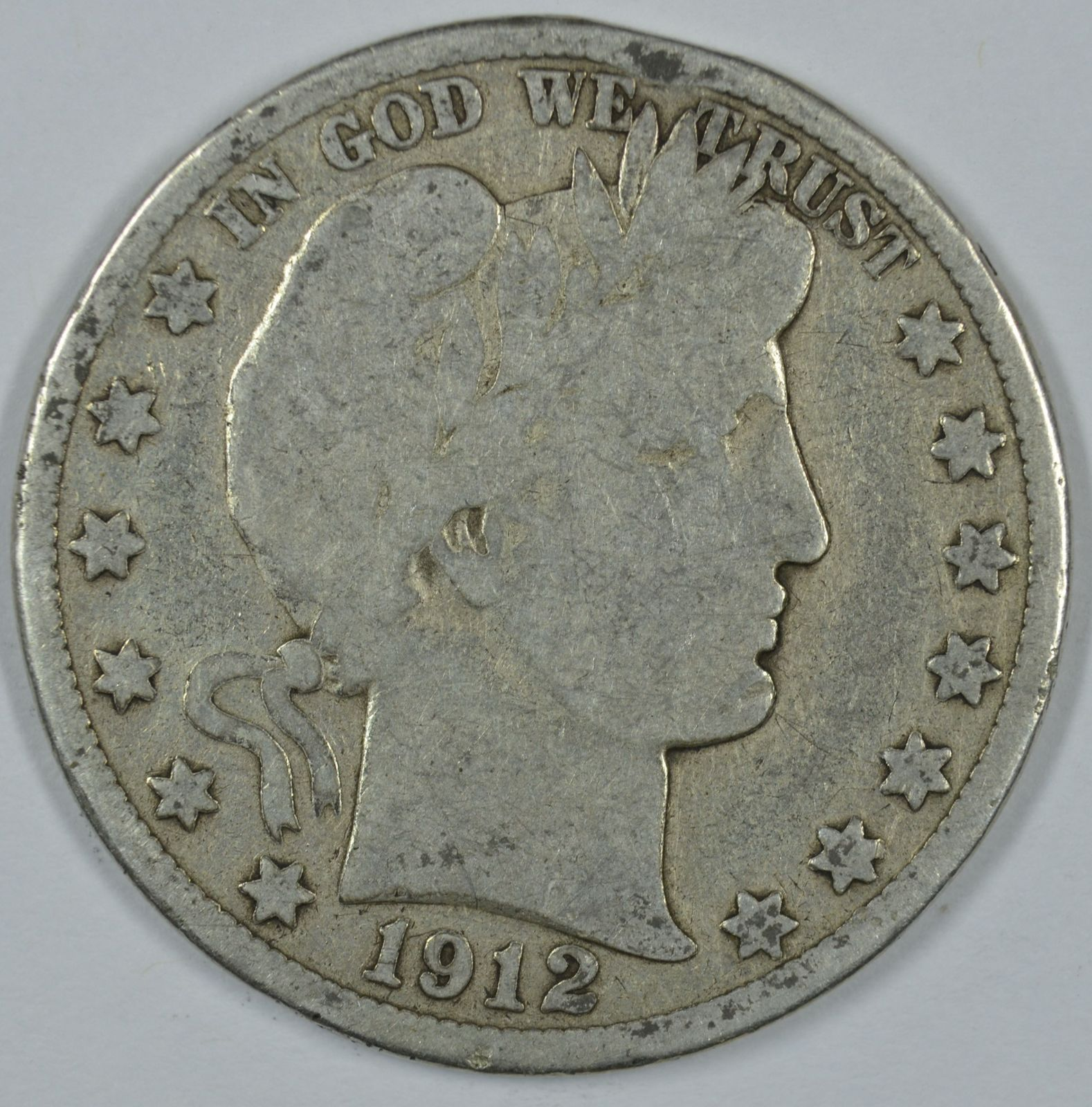 Primary image for 1912 D Barber circulated silver half