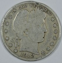 1912 D Barber circulated silver half - $18.50
