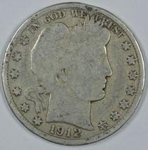 1912 D Barber circulated silver half - $18.50