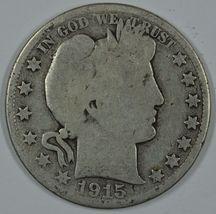 1915 D Barber circulated silver half - $20.00