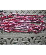 27 Mix Red/White Crochet Friendship Bracelets-Crochet Bracelets. - $14.00