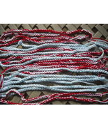 27 Mix Red/White and Blue/White Crochet Friendship Bracelets-Crochet Bra... - $14.00