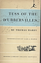 Tess Of The D'Urbervilles by Thomas Hardy - $3.25