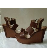 Womens Leather Vince Camuto Wedge Heels Size 9.5 new - $44.54