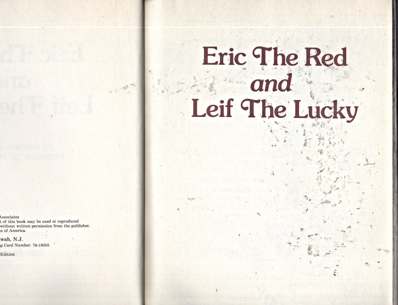 Eric The Red and Leif The Lucky by Barbara Schiller