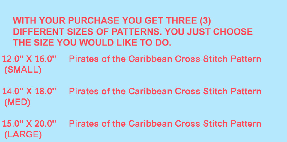 Pirates of the Caribbean Cross Stitch Pattern***L@@K***