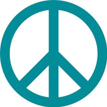 Peace Sign Wall Sticker Decal - Peace Symbol Silhouette Decoration - 8 i... - $5.95
