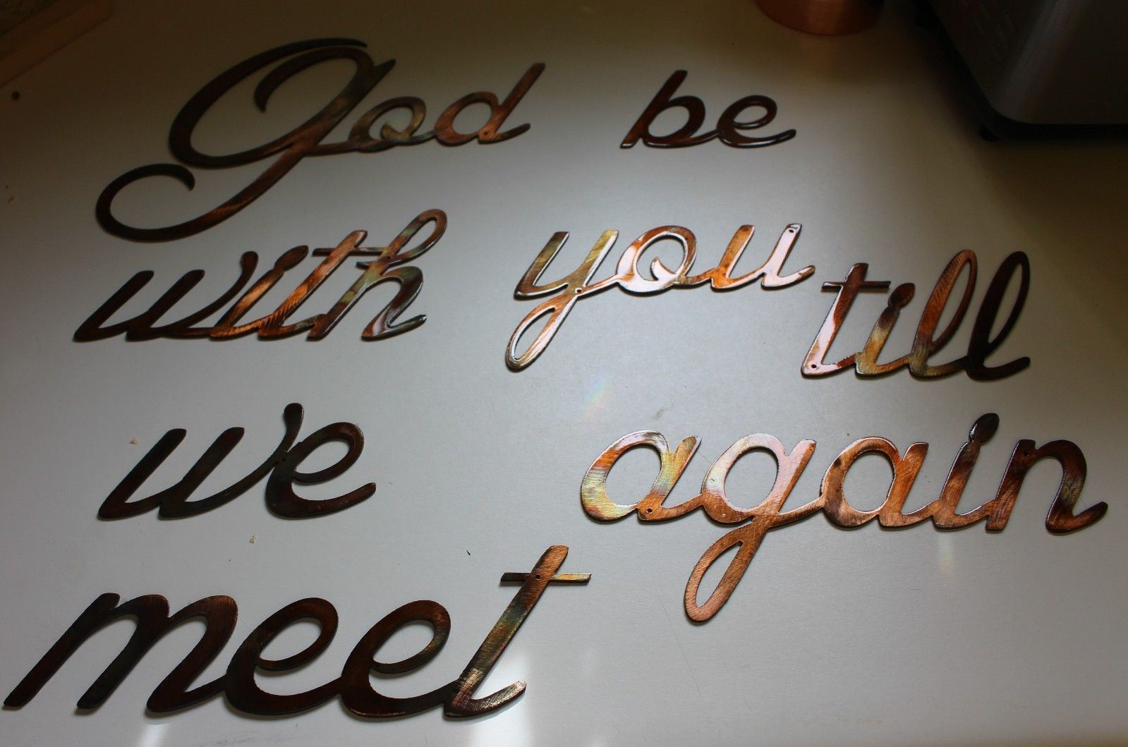 God be with you till we meet again  Words Metal Wall Art Accents