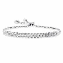 NATALIA DRAKE 1/10cttw Diamond Miracle Plate Adjustable Tennis Bracelet - $102.28