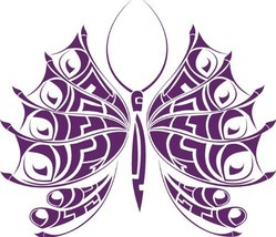 Butterfly Insect Wall Decal Sticker Mural - 12 in. Plum [Kitchen] - $6.95