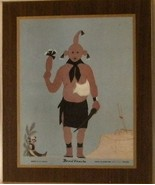 Indian Kachina Mudhead Print Arizona Bank Bruce... - $20.00