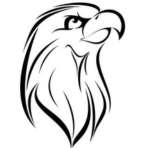 Eagle Bird Wall Decal Sticker - Animal Decoration Mural - 18 in. Black [... - $13.95