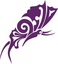 Butterfly Insect Wall Decal Sticker Mural - 24 in. Plum [Kitchen] - $19.95