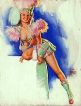 Pin-Up Girl Poster Wall Decal Sticker - Dancer in Green by Earl Moran - ... - $8.59