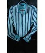 Mens casual shirt,hand made in England  multistripe, elegant  contrast ... - $29.50