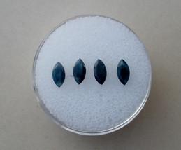4 Blue Sapphire marquise gems 6 x 3mm each - $12.99
