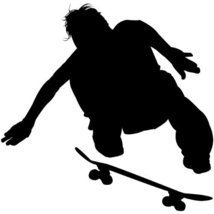 Skateboarding Wall Decal Sticker - Skating Sports Silhouette Decoration ... - €26,33 EUR
