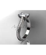 Leafring113 white gold  platinum  diamond wedding ring  diamond engagement ring  forever brilliant moissanite  1 thumbtall
