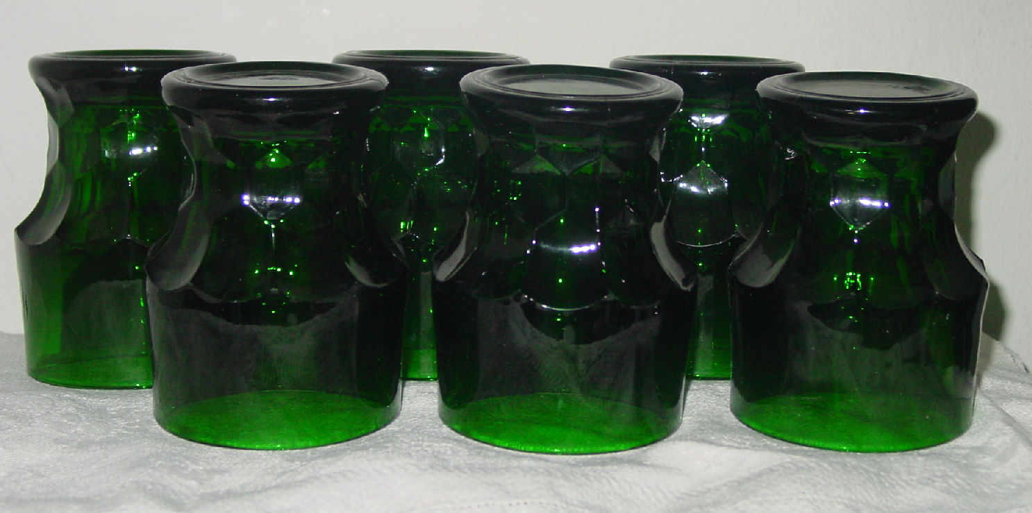 Primary image for Vintage Set of 6 Anchor Hocking Forest Green 8 oz Tumblers