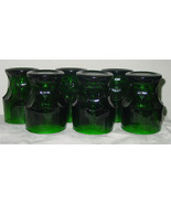 Vintage Set of 6 Anchor Hocking Forest Green 8 oz Tumblers - $19.99