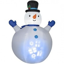 Christmas Inflatables Snowman Presents Projection 7Ft Airblown Yard Deco... - $144.46
