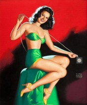 Pin-Up Girl Poster Wall Decal Sticker - Calendar Illustration by Earl Mo... - €36,92 EUR