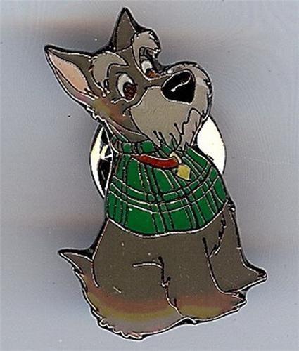 Jock Scottie dog Disney Lady & Tramp German pro No Backer Card Pin