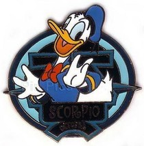 Donald Duck Scorpio Zodiac October Disney No Backer Card  LE  Pin  - $19.99