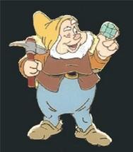 Happy full body Snow White & 7 Dwarfs Authentic Disney No Backer Card Pin - $24.00