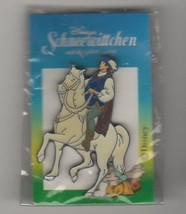 Prince on horse Snow White  on original card German Disney Pro Pin - $12.00