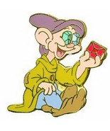 Dopey with Jewels for eyes  Disney Snow Whit Pin - $24.99