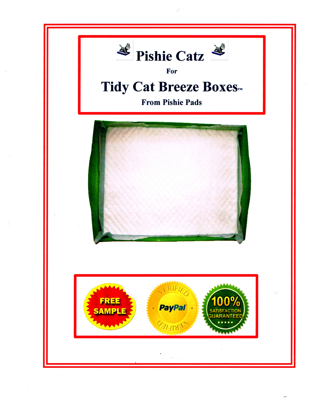 Primary image for 40 TIDY CAT REFILL GENERIC PADS FOR BREEZE LITTER SYSTEM® FREE SAMPLES
