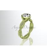 Yellow gold engagement ring, 14k yellow gold diamond engagement ring wit... - $1,550.00
