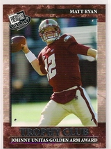 2008 Press Pass Trophy Club Matt Ryan Rookie - $1.99