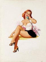 Pin-Up Girl Poster Wall Decal Sticker - Untitled, 1951 by Earl Moran - 1... - ₹1,582.75 INR