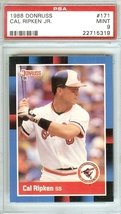 1988 donruss cal ripken jr baltimore orioles baseball card graded psa 9 ironman - $9.99