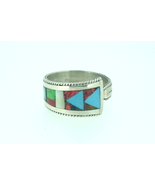 Spoon ring sterling silver Zuni handmade with v... - $85.00
