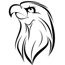 Eagle Bird Wall Decal Sticker - Animal Decoration Mural - 24 in. Black [... - $19.95