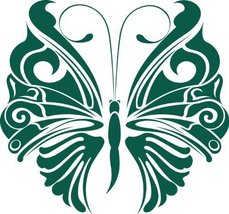 Butterfly Insect Wall Decal Sticker Mural - 42 in. Forest Green [Kitchen] - ₹2,515.56 INR