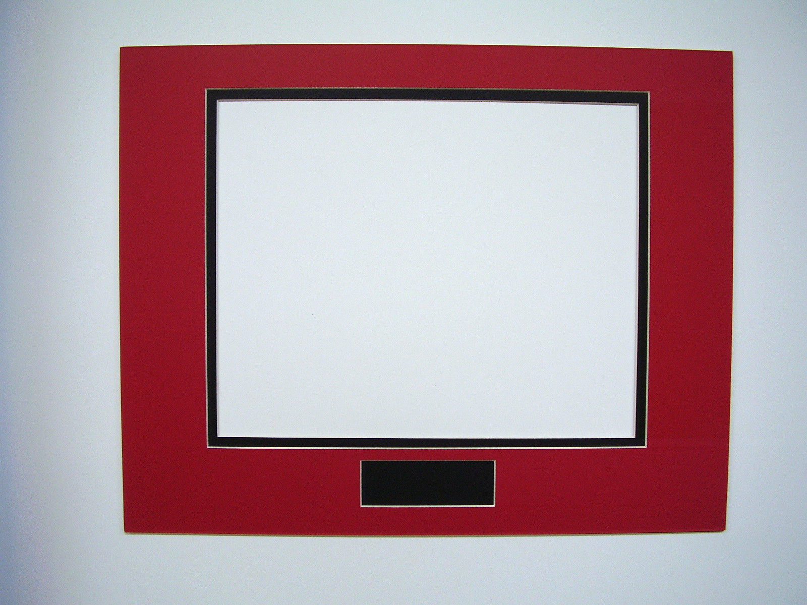 Picture Framing Mat 16x20 For 11x14 Photo Red And Black