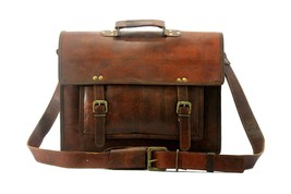 Men's Genuine Vintage Leather Messenger Bag Shoulder Laptop Bag Briefcase - $64.99