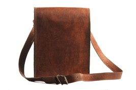 Men's Genuine Vintage Leather Messenger Bag Shoulder Bag full flap - $54.99