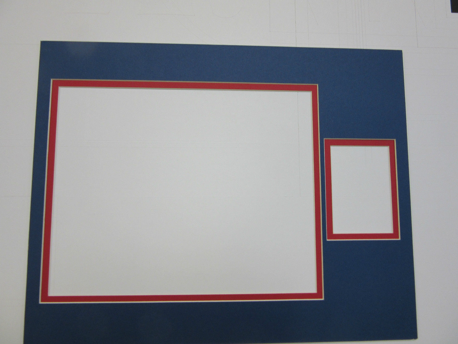 Picture Frame Double Multi Opening Mat 11x14 For 8x10