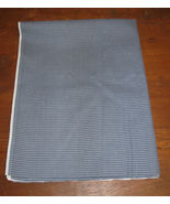 Cotton/Cotton Blend Fabric Remnant-Blue Stripe/Check-1yd x 54in-Med. Wei... - $9.99